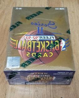 1992-93 Fleer Series 2. Factory Sealed Box. 36 Packs. Michae