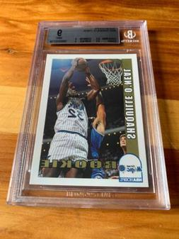 1992-93 NBA Hoops Shaquille O'Neal RC #442 Graded BGS 9 With