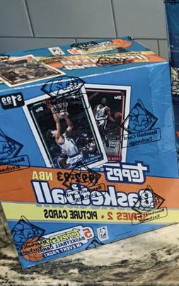 1992-93 Topps 2 Jumbo Basketball Box BBCE FASC-5 Gold Cards