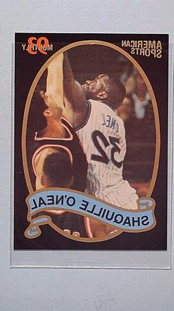 1993 AMERICAN SPORTS PROMO SHAQUILLE O'NEAL ORLANDO MAGIC