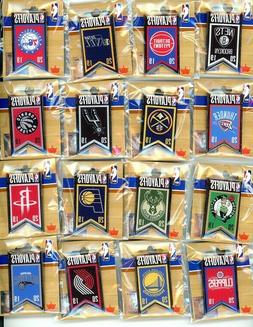 2019 NBA Playoff Banner Pin Choice 16 pins choose warriors p