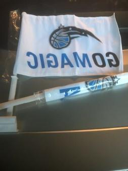 Orlando Magic Basketball Flag White Window Car Truck Set of