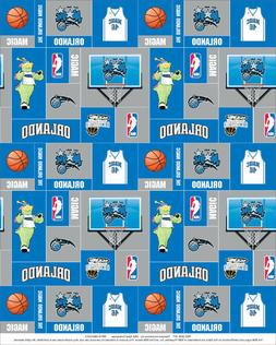 Fleece Orlando Magic NBA Pro Basketball Print Fleece Fabric