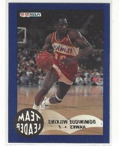 1992 93 fleer basketball team leaders insert