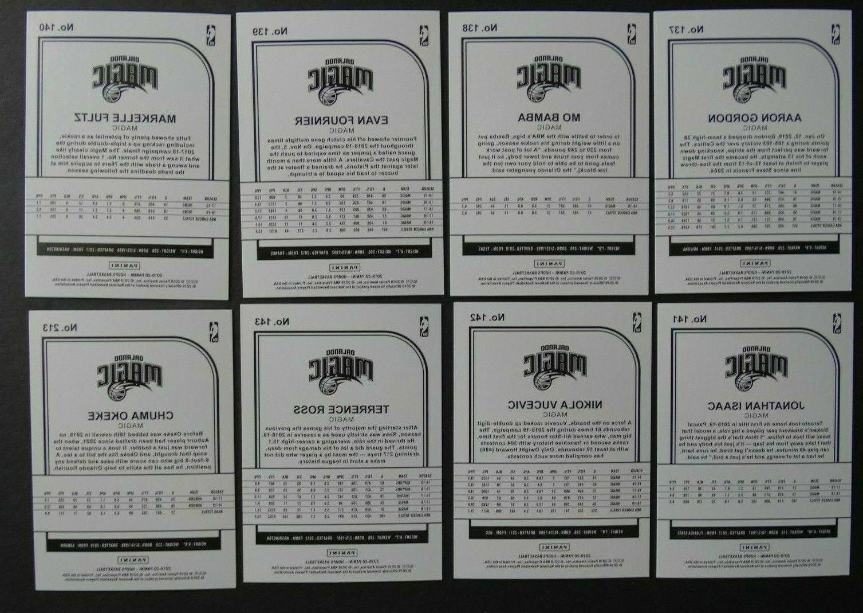 2019-20 Panini NBA Orlando Magic Team Set Basketball Cards