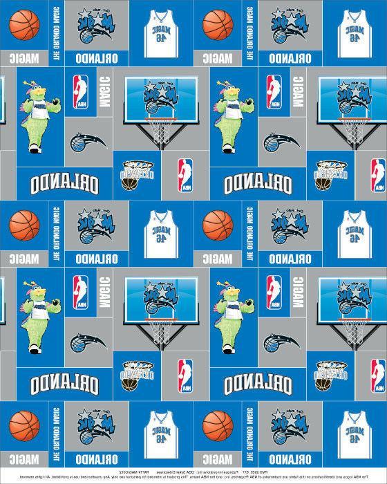fleece orlando magic nba pro basketball print