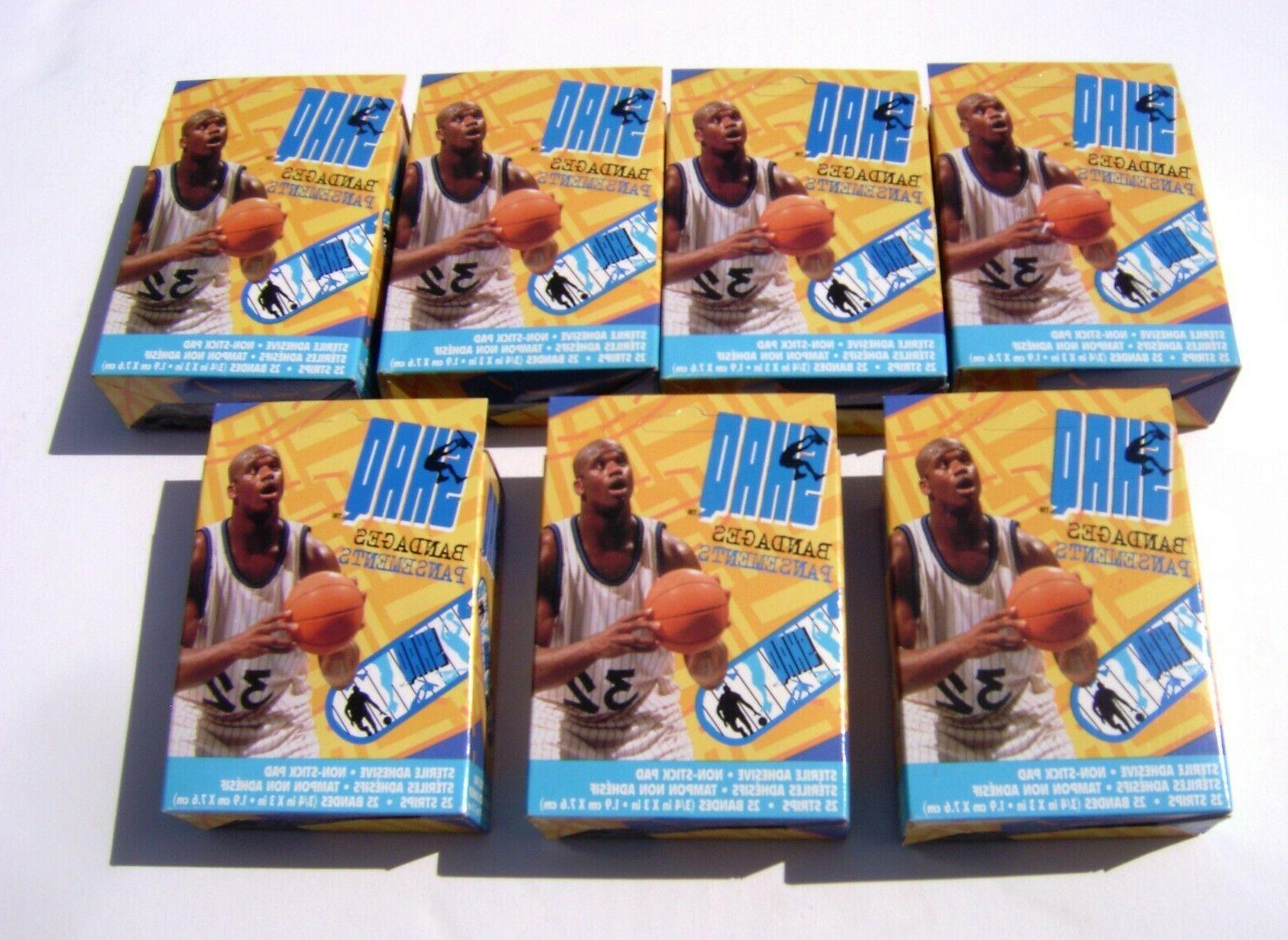 lot of 7 bandaid boxes w shaquille