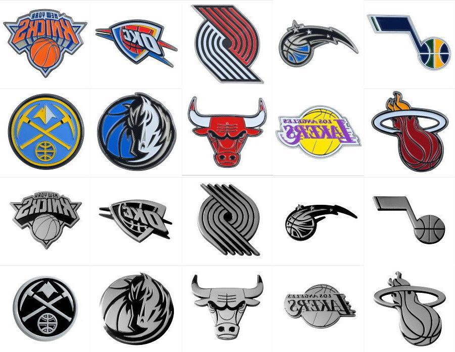nba team car truck emblems auto emblem