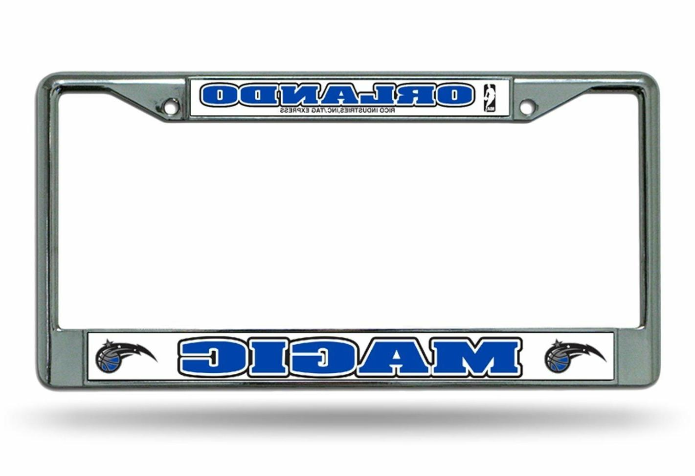 orlando magic chrome metal laser frame chrome