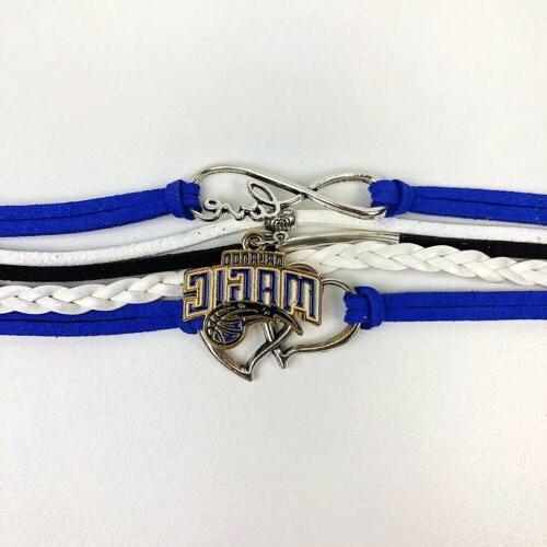 Orlando Infinity Jewelry Bracelet Basketball Leather