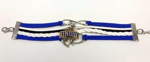 Orlando Magic Infinity Bracelet Basketball Leather