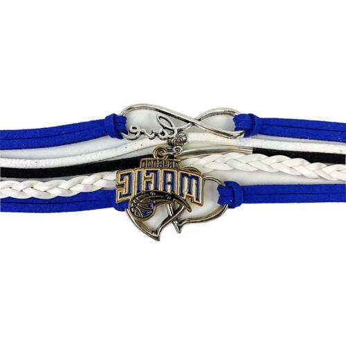 orlando magic infinity jewelry bracelet basketball charm