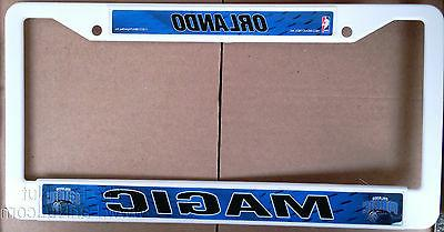 orlando magic lbl white plastic license plate