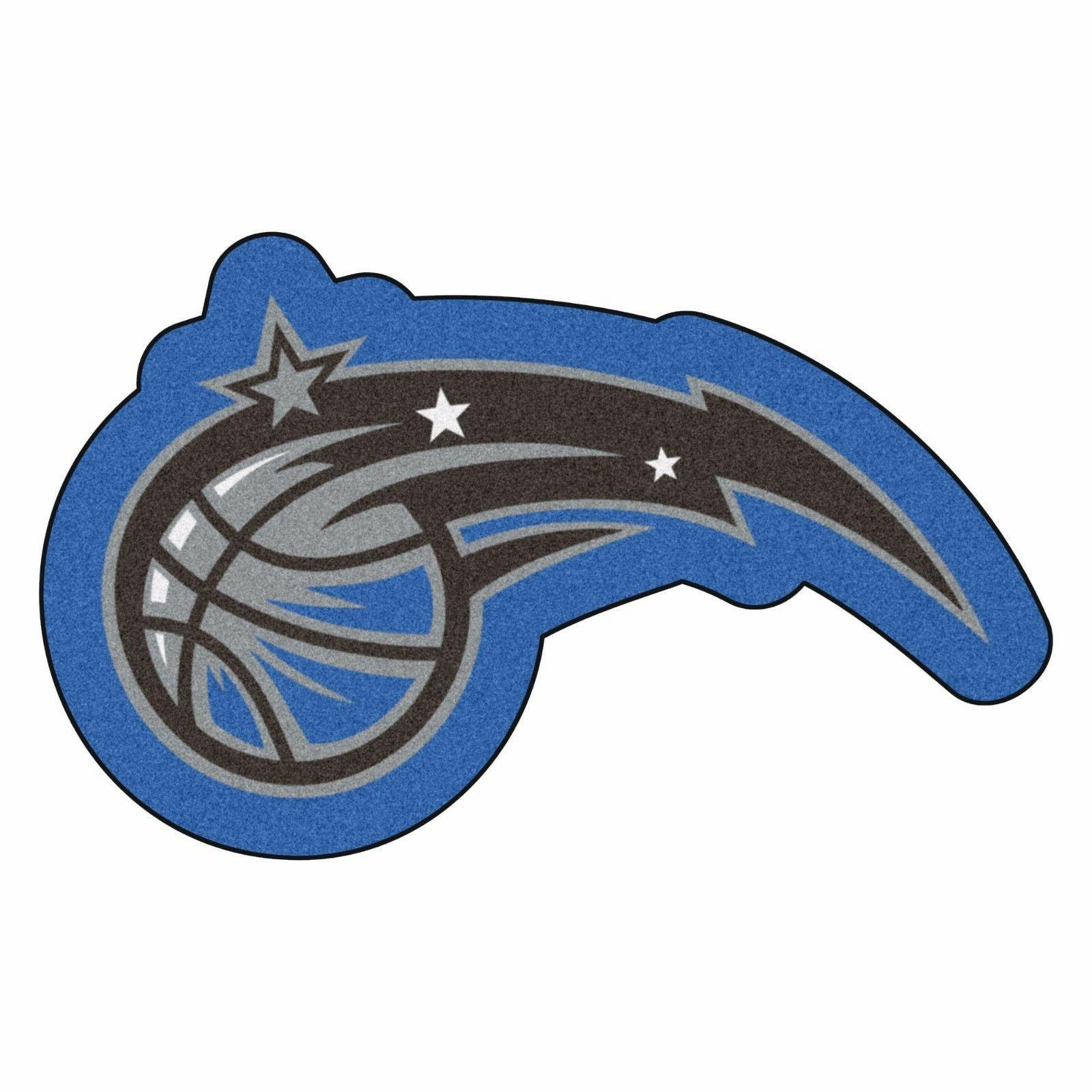 orlando magic mascot decorative logo cut area
