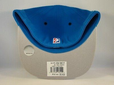 Flex Hat Draft Cap Size S/M Blue White