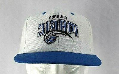 orlando magic white blue baseball cap snapback