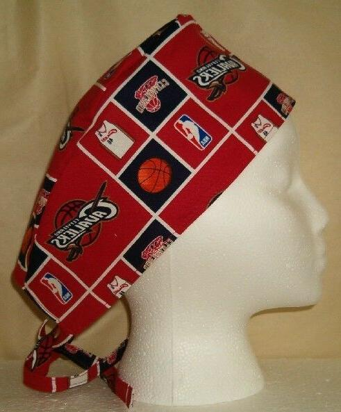 surgical scrub hat cap made with nba