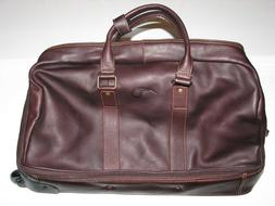 Links and Kings Luxury Leather Rolling Golf Travel Duffel Ba