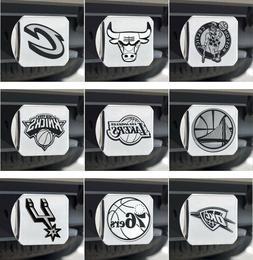 NBA Hitch Covers 3-D Emblem Heavy Duty Chrome Metal - Choose