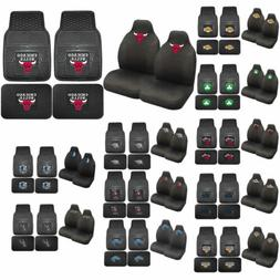 NBA Basketball Licensed High Back Seat Covers & Rubber Floor