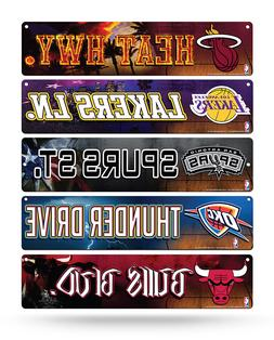 "NBA Basketball Street Sign 3.75"" x 16"" Pick your team!!"