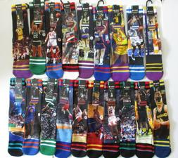 Stance NBA Legends Socks Mens L/XL NWT Ewing Shaq Rodman Cly