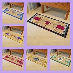 NBA Licensed Basketball Court Runner Rug Floor Mat Carpet Ma