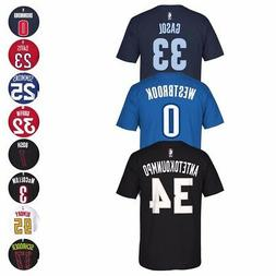 NBA Adidas Name & Number Player Jersey Team Color T-Shirt Co