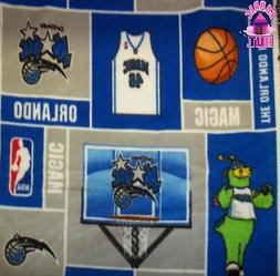 nba orlando magic block fleece fabric
