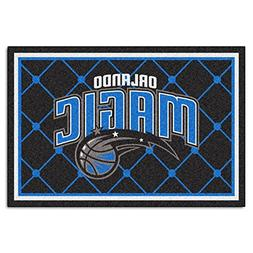 FANMATS NBA Orlando Magic Nylon Face 5X8 Plush Rug