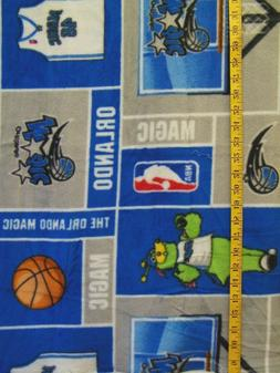 NBA ORLANDO MAGIC PATCH  FLEECE FABRIC 49X58 INCHES  1.36  Y
