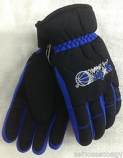 NBA Orlando Magic Thinsulate No Slip Gripper Ski Gloves w/ K