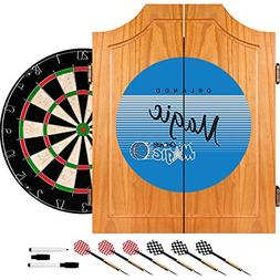 NBA Orlando Magic Wood Dart Cabinet, One Size, Brown