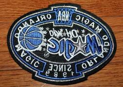 NEW Orlando Magic Crest Sleeve or Hoodie Sized Embroidered P