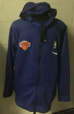 New York Knicks NBA Nike Full Zip Therma Flex Warm Up Hoodie