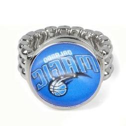 Orlando Magic Basketball Silver Mens Womens Ring Fits All Si