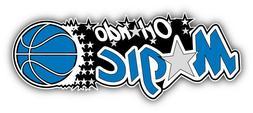 Orlando Magic Basketball Slogan Bumper Sticker Decal - 9'',