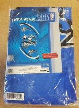 "Orlando Magic Beach Towel 30"" x 60"" Fiber Reactive Logo Bath"