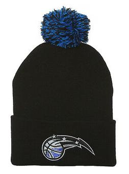 Orlando Magic Black Cuffed Beanie w/ Pom + GT Wristband
