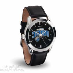 Orlando Magic CLASSIC Watch Team Color Logo Black Leather Ba