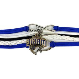 Orlando Magic Infinity Jewelry Bracelet Basketball Charm Fau