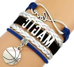 Orlando Magic Infinity Jewelry Bracelet NBA Basketball Charm