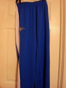 NBA ORLANDO MAGIC MEN'S LARGE SWEATPANTS POLYESTER BLUE WHIT