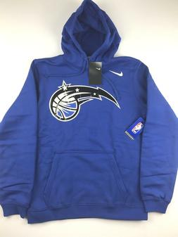 Nike Orlando Magic Mens Large Blue Basketball Logo Hoodie Sw