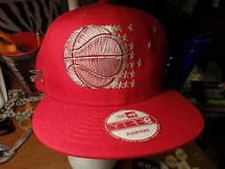 Orlando Magic NBA New Era 9Fifty Red Tonal Snapback Flat Bil