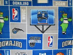 Orlando Magic NBA Basketball Licensed Fleece Fabric OOP
