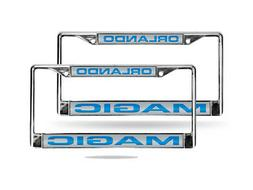 Orlando Magic NBA Chrome Metal  Laser Cut License Plate Fram