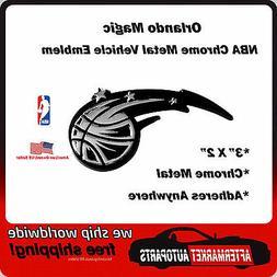 Orlando Magic NBA Chrome Metal Car Auto Emblem Team Decal Lo