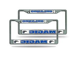 Orlando Magic NBA Chrome Metal  License Plate Frames