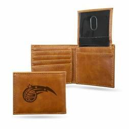 Orlando Magic NBA Laser Engraved Brown Billfold Wallet